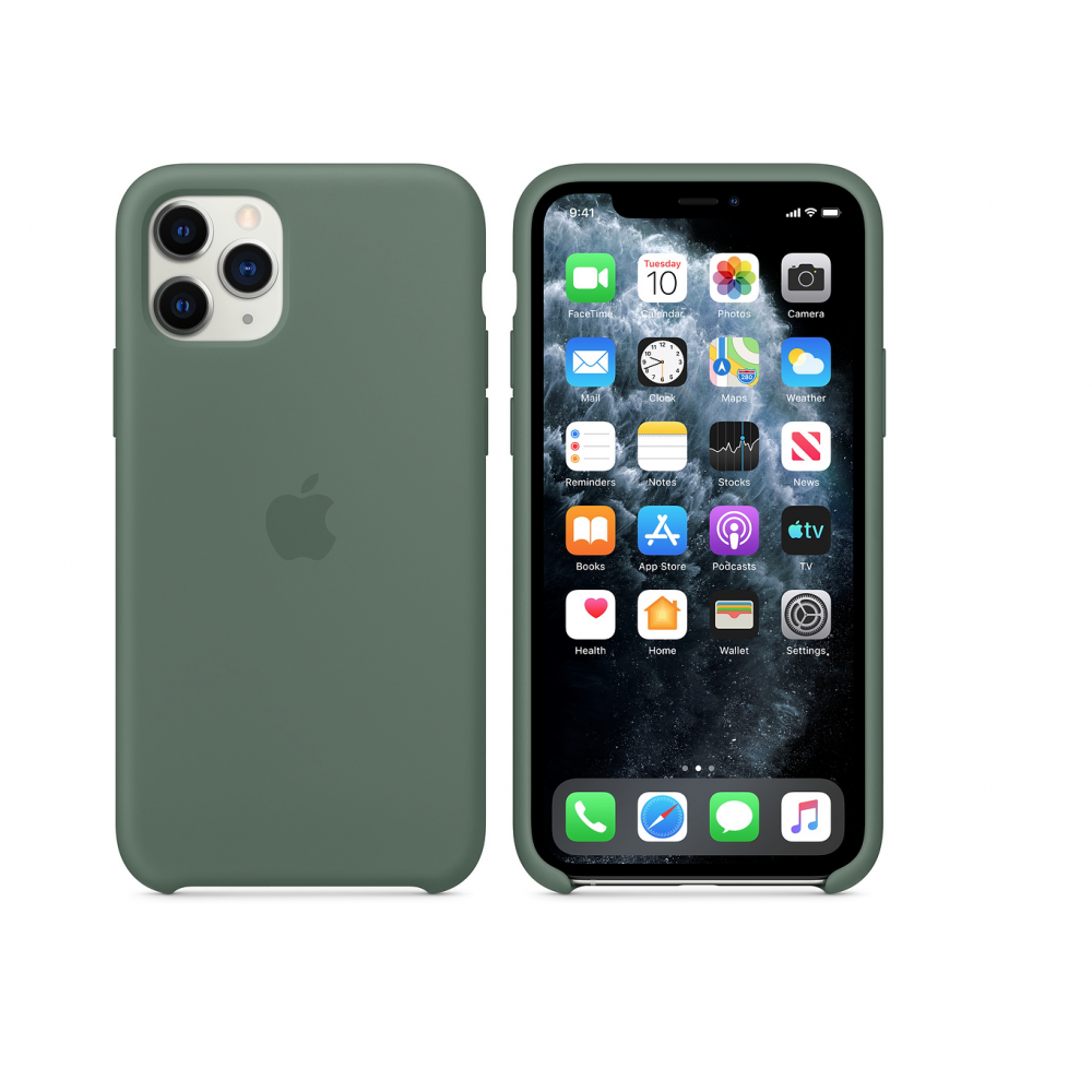 Чехол для iPhone 11 Pro Silicone Case (Pine Green) OEM
