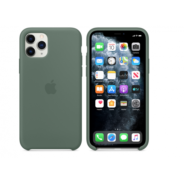 Чехол для iPhone 11 Pro Max Silicone Case (Pine Green) OEM