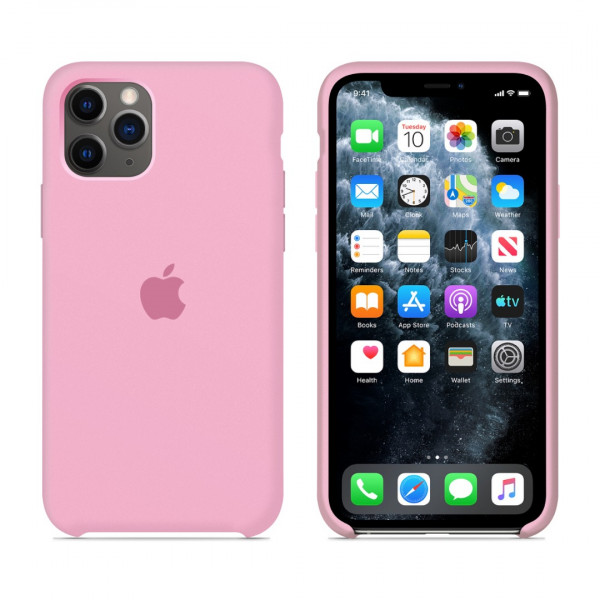 Чехол для iPhone 11 Pro Max Silicone Case (Pink) OEM