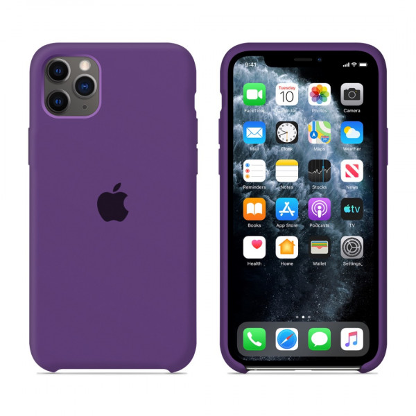 Чехол для iPhone 11 Pro Max Silicone Case (Purple) OEM