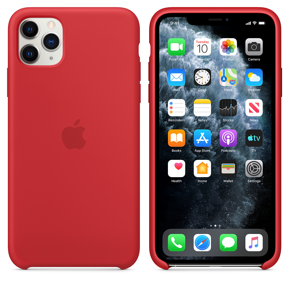 Чехол для iPhone 11 Pro Silicone Case (Red) OEM