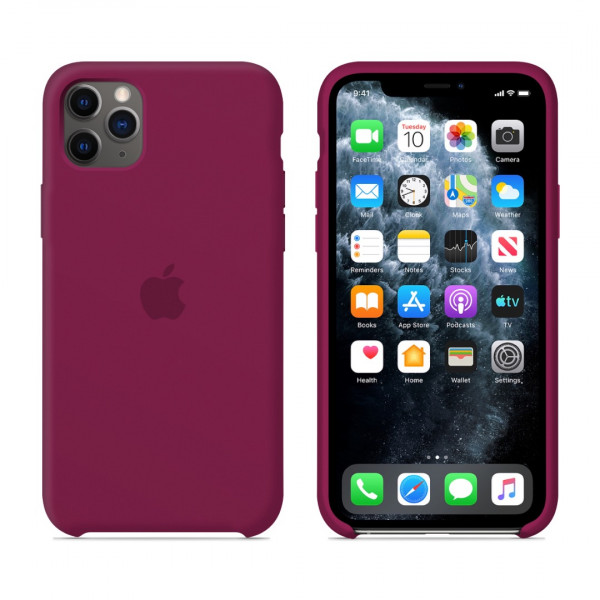 Чехол для iPhone 11 Pro Max Silicone Case (Rose Red) OEM
