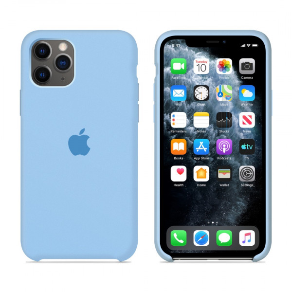 Чехол для iPhone 11 Pro Max Silicone Case (Sky Blue) OEM