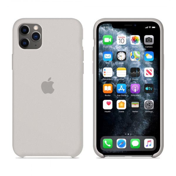 Чехол для iPhone 11 Pro Max Silicone Case (Stone) OEM