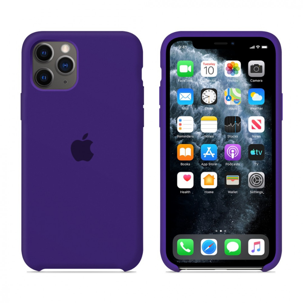 Чехол для iPhone 11 Pro Silicone Case (Ultra Violet) OEM
