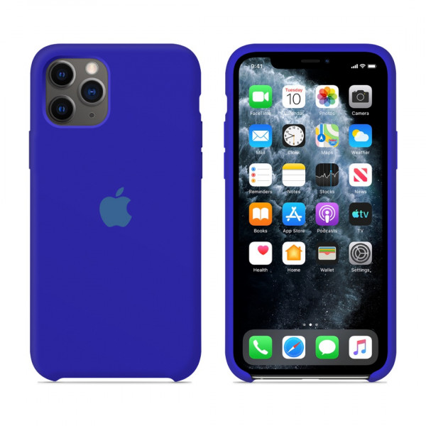 Чехол для iPhone 11 Pro Max Silicone Case (Ultramarine) OEM