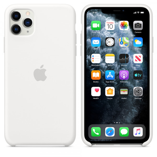 Чехол для iPhone 11 Pro Max Silicone Case (White) OEM