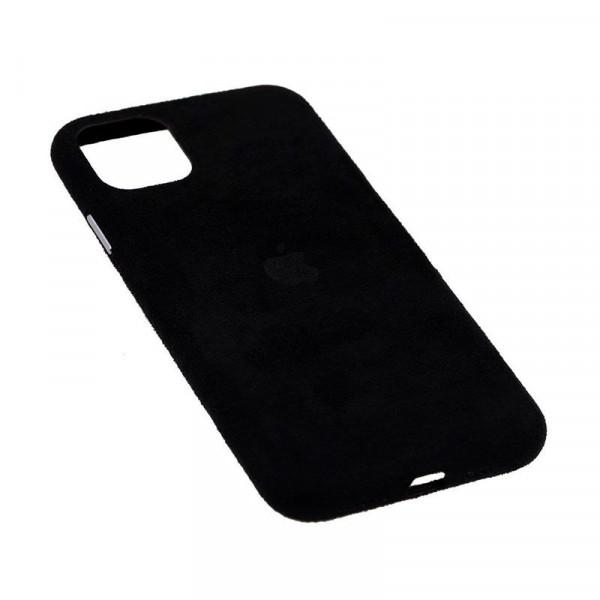 Замшевый чехол для iPhone 11 Pro Alcantara (Black)