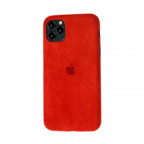 Замшевый чехол для iPhone 11 Pro Alcantara (Red)
