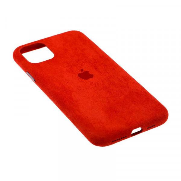 Замшевый чехол для iPhone 11 Pro Max Alcantara (Red)