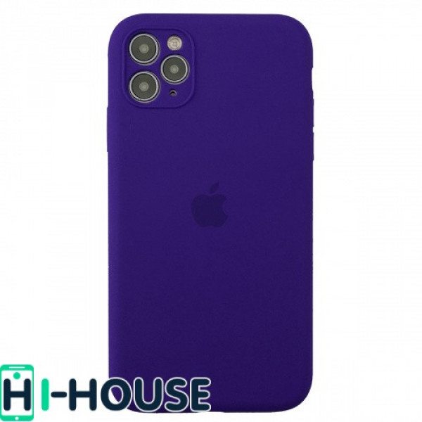 Чехол для iPhone 11 Pro Max Silicone Case Full Camera Protection (Ultra Violet)