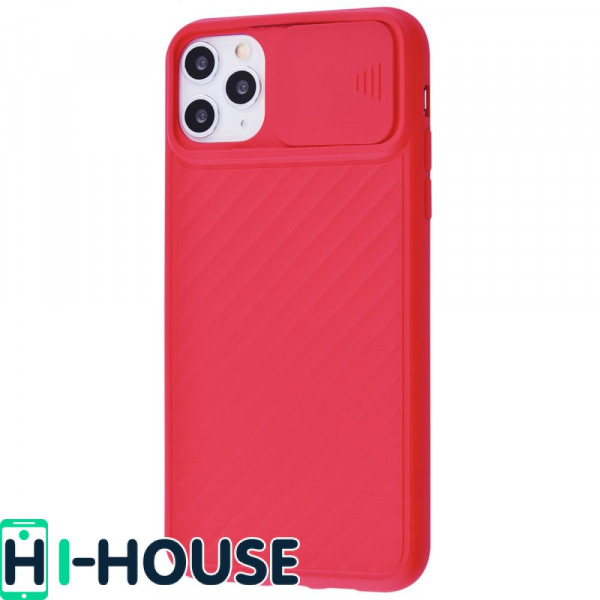 Чехол для iPhone 11 Pro Max CamShield (со шторкой для защиты камеры) TPU (Red)
