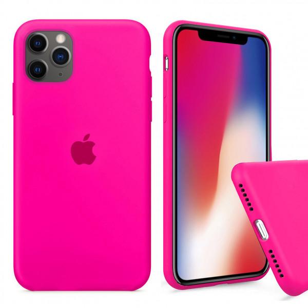 Чехол Silicone Case Full для iPhone 11 Pro Max (Electric Pink)