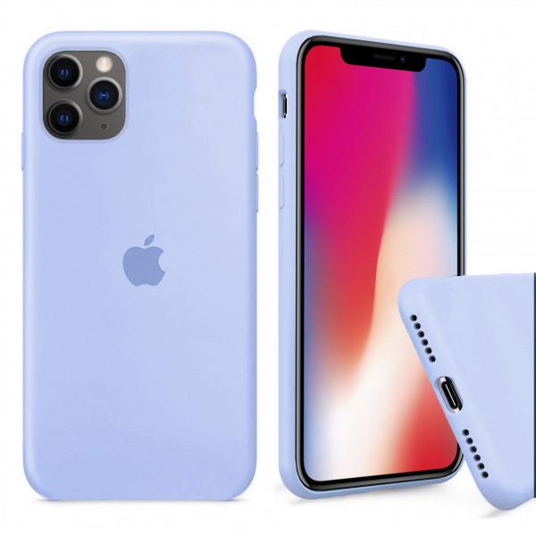 Чехол Silicone Case Full для iPhone 11 Pro Max (Lilac Cream)