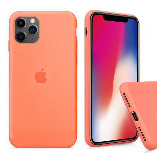 Чехол Silicone Case Full для iPhone 11 Pro Max (Papaya)