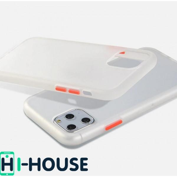 Чехол Gingle Series Case на iPhone 11 Pro Max (Transparent Red)