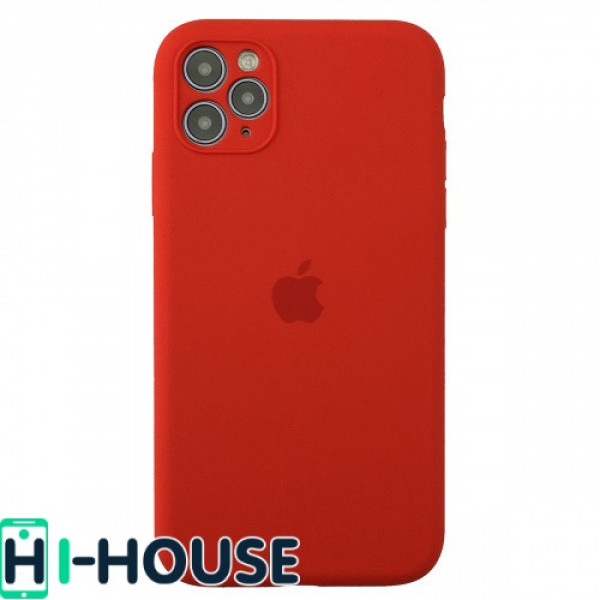 Чехол для iPhone 11 Pro Max Silicone Case Full Camera Protection (Red)