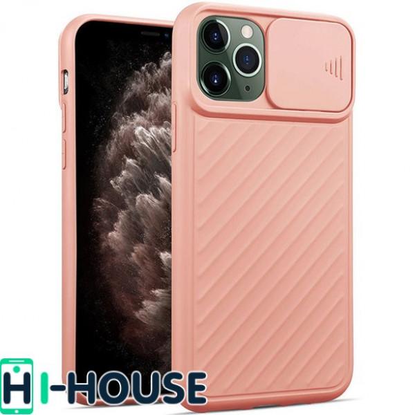 Чехол для iPhone 11 Pro Max CamShield (со шторкой для защиты камеры) TPU (Pink Sand)