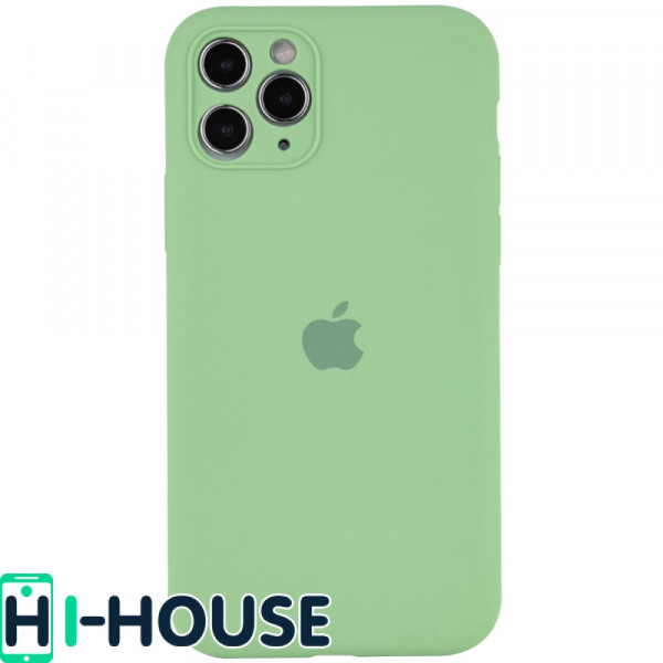 Чехол для iPhone 11 Pro Max Silicone Case Full Camera Protection (Spearmint)