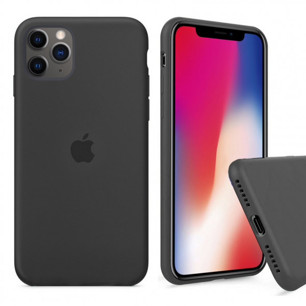 Чехол Silicone Case Full для iPhone 11 Pro Max (Charcoal Gray)
