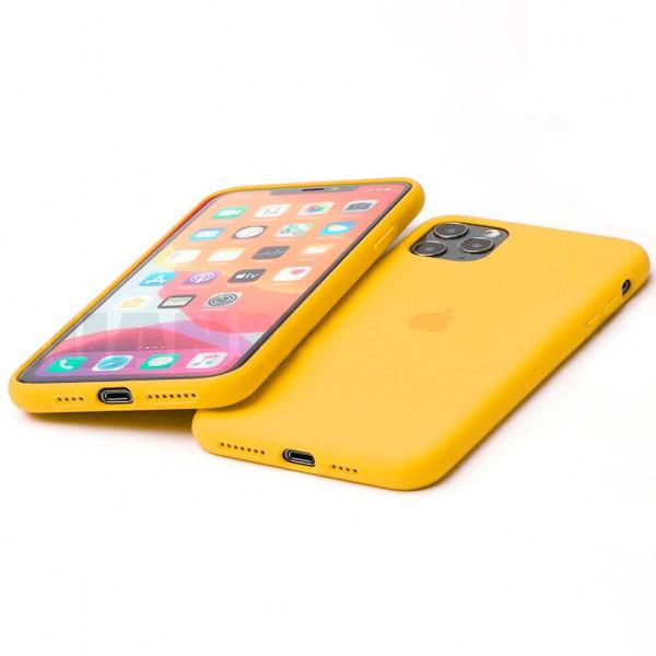 Чехол Silicone Case Full для iPhone 11 Pro Max (Canary Yellow)