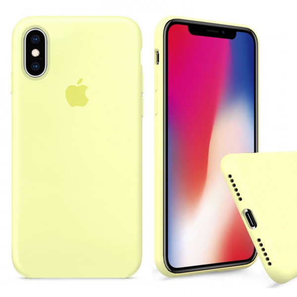 Чехол Silicone Case Full для iPhone XS Max (Mellow Yellow)