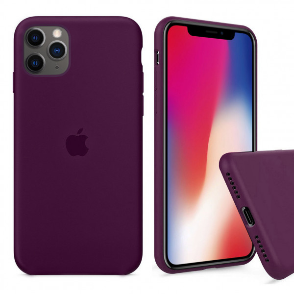 Чехол Silicone Case Full для iPhone 11 Pro Max (Marsala)