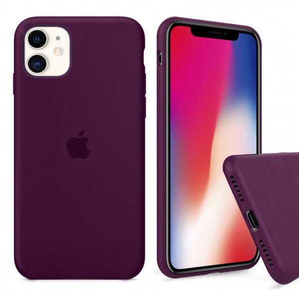 Чехол Silicone Case Full для iPhone 11 (Marsala)