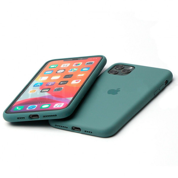 Чехол Silicone Case Full для iPhone 11 Pro Max (Pine Green)