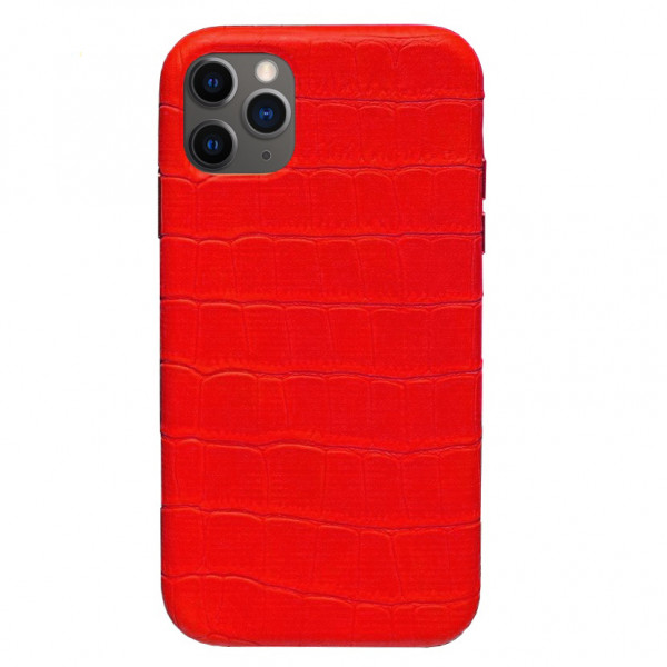 Чехол на iPhone 11 Pro Max Leather Case Full (Red)