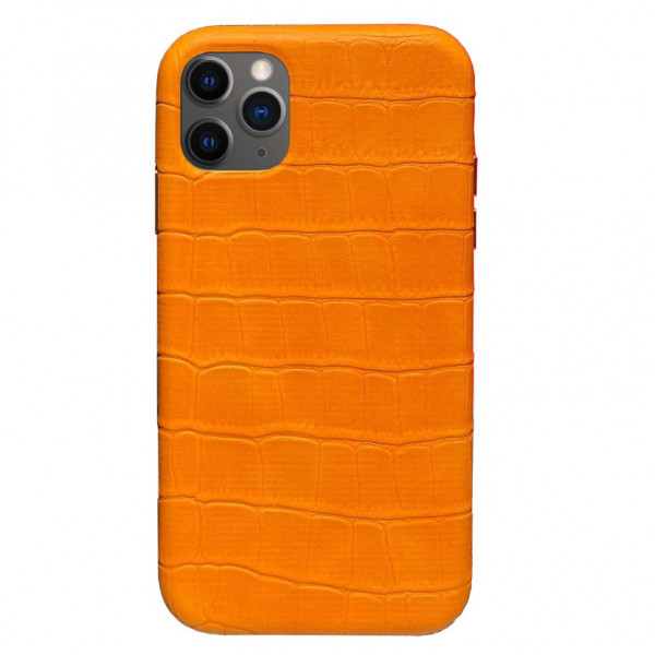 Чехол на iPhone 11 Pro Max Leather Case Full (Yellow)