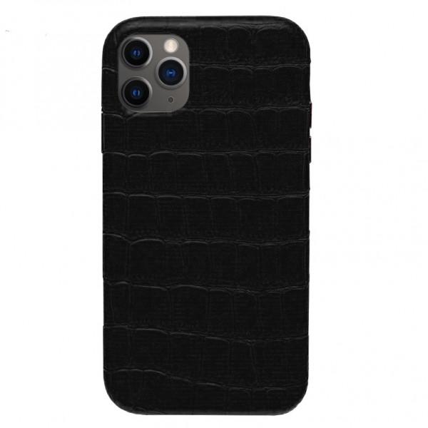 Чехол на iPhone 11 Pro Max Leather Case Full (Black)