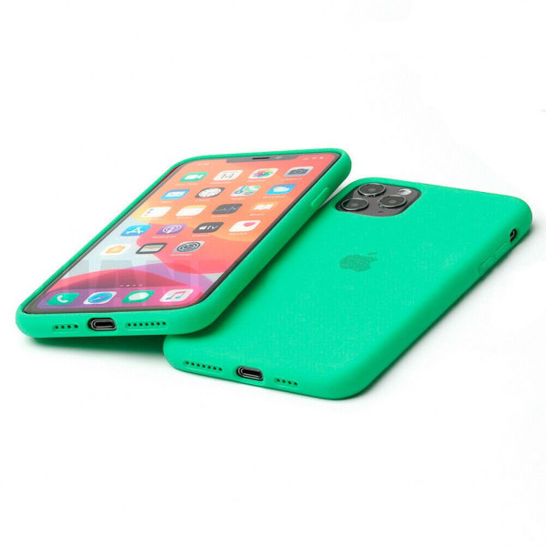 Чехол Silicone Case Full для iPhone 11 Pro Max (Spearmint)