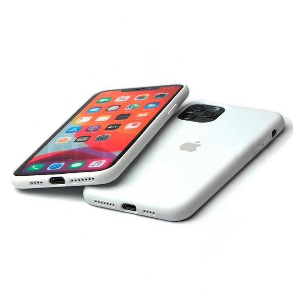 Чехол Silicone Case Full для iPhone 11 Pro Max (White)