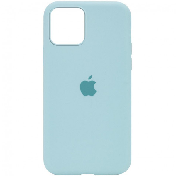 Чехол на iPhone 12 mini Silicone Case Full Light Blue