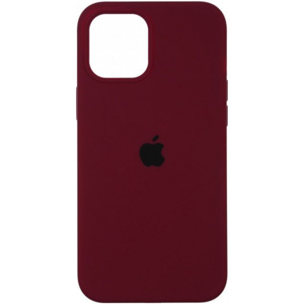 Чехол Silicone Case Full для iPhone 12 Pro Max Marsala