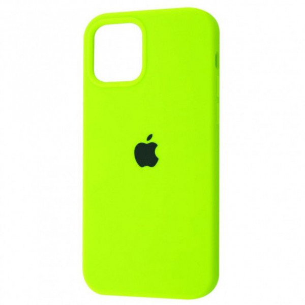 Чехол Silicone Case Full для iPhone 12 Pro Max Lime Green