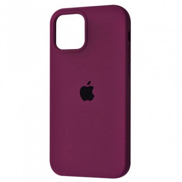 Чехол Silicone Case Full для iPhone 12 Pro Purple