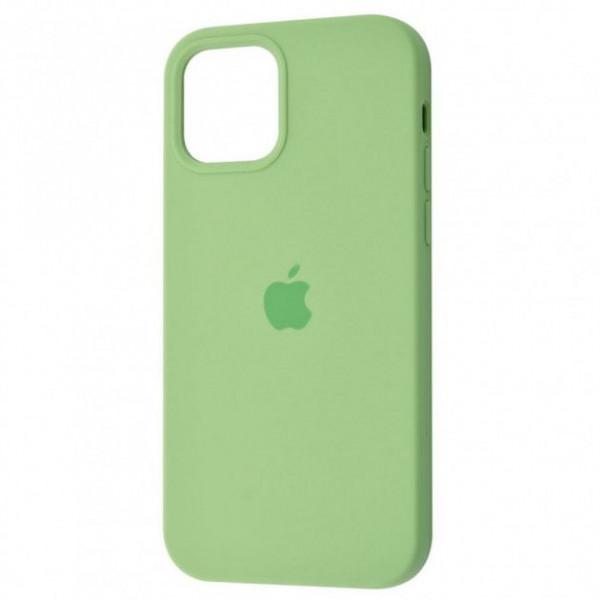 Чехол Silicone Case Full для iPhone 12 Pro Mint Gum