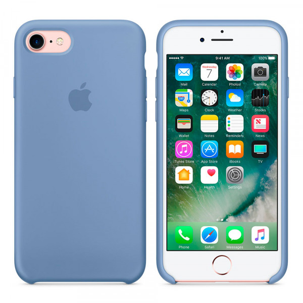 Чехол Silicone Case для iPhone 6/6s (Azure) OEM
