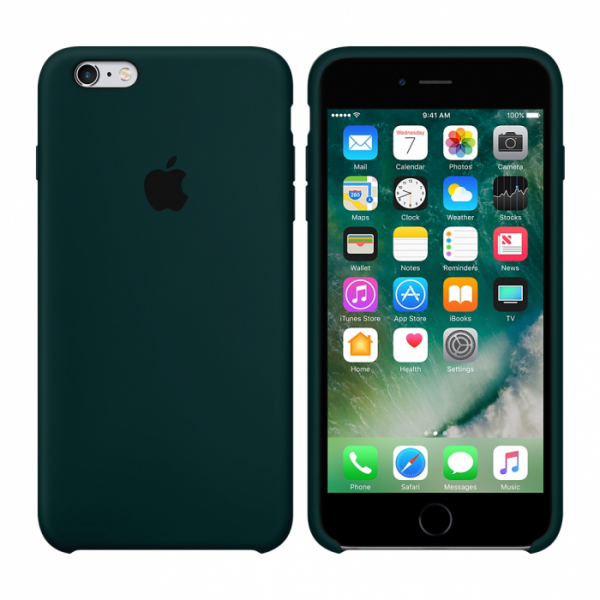 Чехол Silicone Case для iPhone 6/6s (Forest Green) OEM