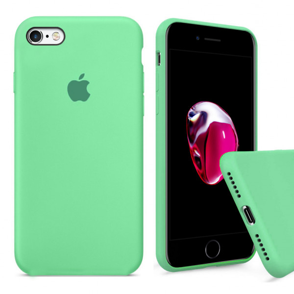 Чехол Silicone Case Full для iPhone 6 / 6s (Spearmint)