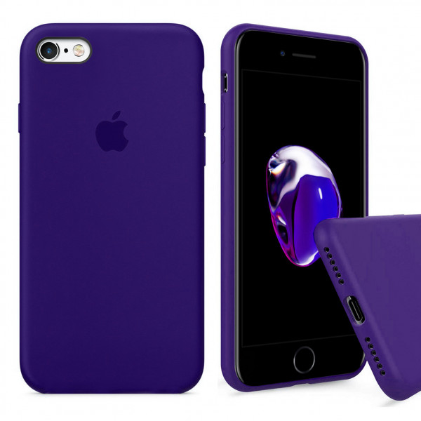 Чехол Silicone Case Full для iPhone 6 / 6s (Ultra Violet)