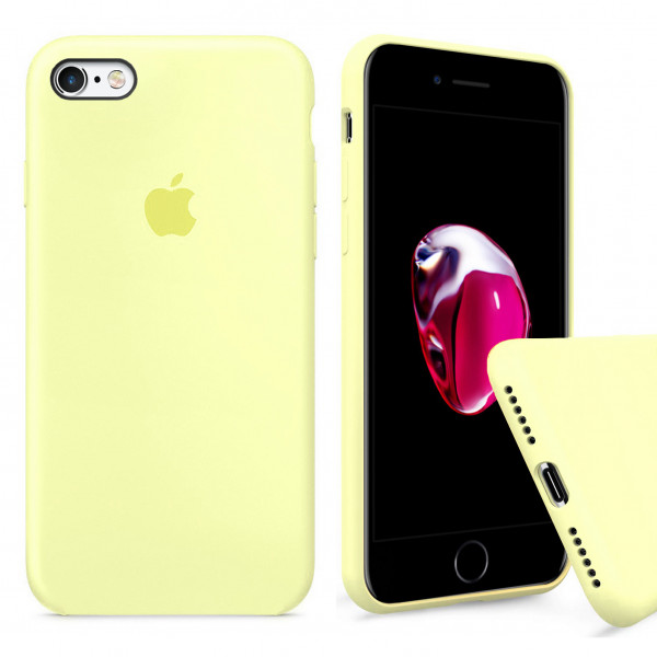 Чехол Silicone Case Full для iPhone 6 / 6s (Mellow Yellow)