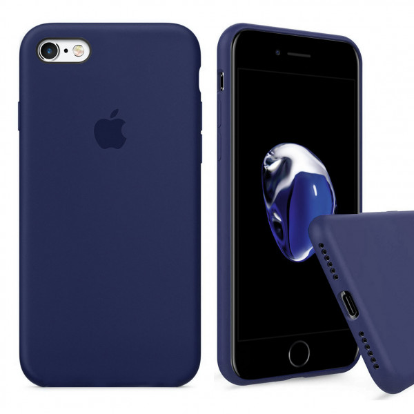 Чехол Silicone Case Full для iPhone 6 / 6s (Midnight Blue)