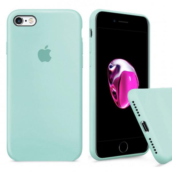 Чехол Silicone Case Full для iPhone 6 / 6s (Mint)