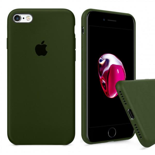 Чехол Silicone Case Full для iPhone 6 / 6s (Oliva)