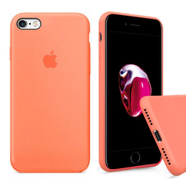 Чехол Silicone Case Full для iPhone 6 / 6s (Papaya)