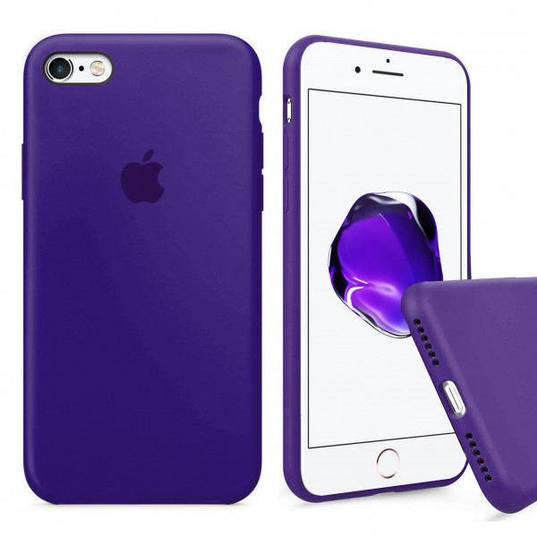 Чехол Silicone Case Full для iPhone 6 / 6s (Purple)