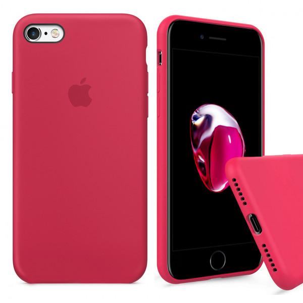 Чехол Silicone Case Full для iPhone 6 / 6s (Red Raspberry)